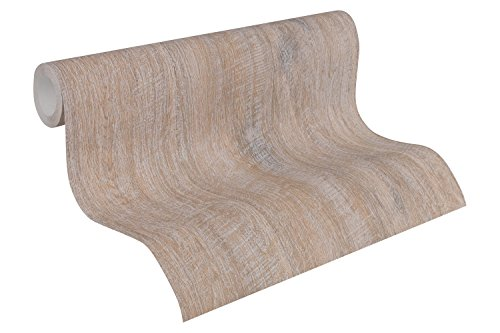 A.S. Création Vliestapete Best of Wood`n Stone 2nd Edition Tapete in Vintage Holz Optik fotorealistische Holztapete maritim 10,05 m x 0,53 m braun Made in Germany 319913 31991-3 von A.S. Création