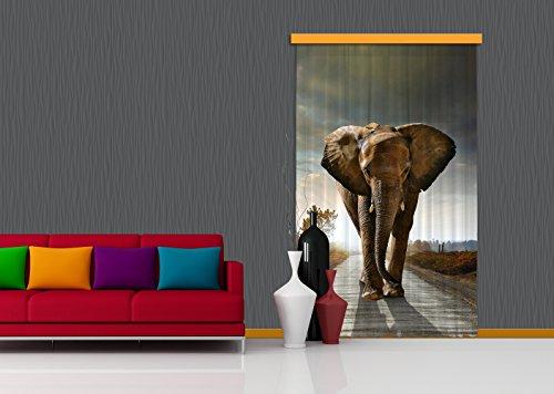 Vorhang Kinderzimmer Elefant : AG Design FCSXL 4800 Wasserfall, GardineVorhang, Fotodruck, 2 Teile