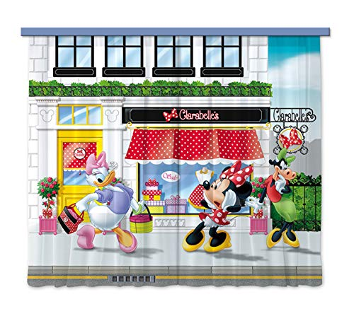 Gardine/Vorhang FCS xl 4310 Kinderzimmer Disney Minnie Mouse von AG Design