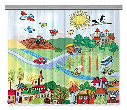 AG Design Disney Winnie Pooh Kinderzimmer Gardine/Vorhang ...