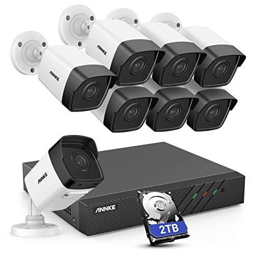 5MP PoE /Überwachungskamera System Set,4K 16CH Video/überwachung NVR Rekorder 3TB Festplatte mit 16X 5MP HD IP Kamera,f/ür Aussen Innen,EXIR Nachtsicht ANNKE H.265 Pro Bewegungserkennung