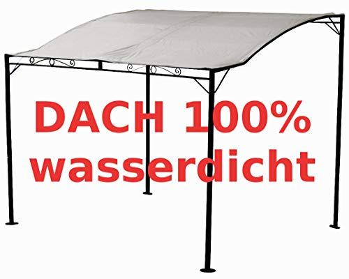 Dach 100/% WASSERDICHT UV30+ mit 6 Vorh/ängen ASS Eleganter Gartenpavillon 3x4 Meter rechteckig Modell: ELBA 3x4 12m/²