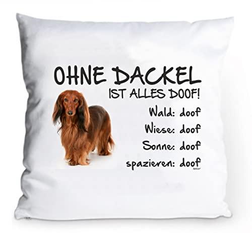 """Kissenbezug 40x40cm /""""Ohne Berner Sennenhund ist alles doof!/"""" Hund Fun Deko"""