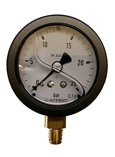 Einbaulage senkrecht Kessel Thermometer 25 x 58 x 1500 mm 0-120° Kapillar