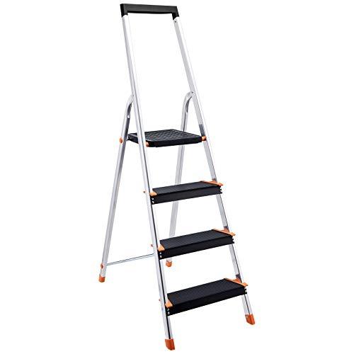 Aluminium schwarz Hasegawa Ladders Lucano Tritthocker Wide 2 Step