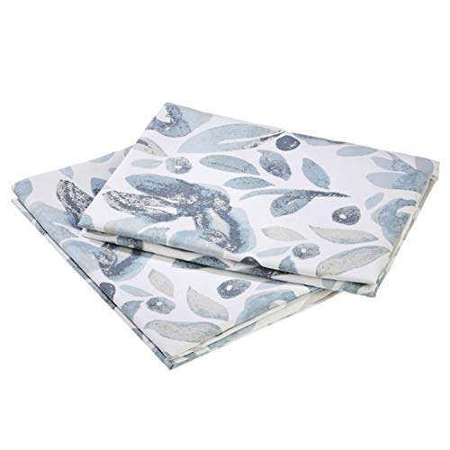 Amazon Basics Premium Microfiber Pillowcases, 2-Pack - 65 x 65 cm, Watercolor Blue Fog von Amazon Basics