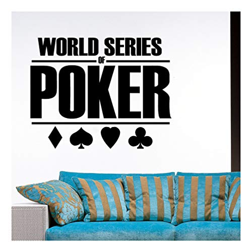 Ambiance-Live Wandtattoo world series of poker - 55 X 70 cm, Schwarz von Ambiance-Live