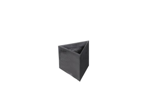 Amedeo Design 2513-162B ResinStone Wedge Modular Planter, 12 by 12 by 24-Inch, Black von Amedeo Design
