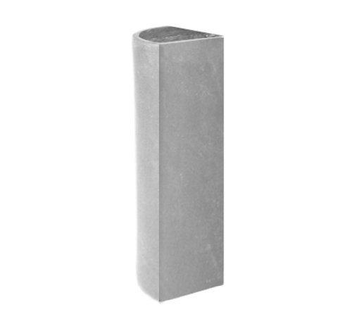 Amedeo Design 2513-258G ResinStone Corner Modular Cylinder Planter, 12 by 12 by 24-Inch, Lead Gray von Amedeo Design