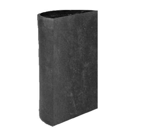Amedeo Design 2513-276C ResinStone Side Modular Cylinder Planter, 24 by 12 by 36-Inch, Charcoal von Amedeo Design