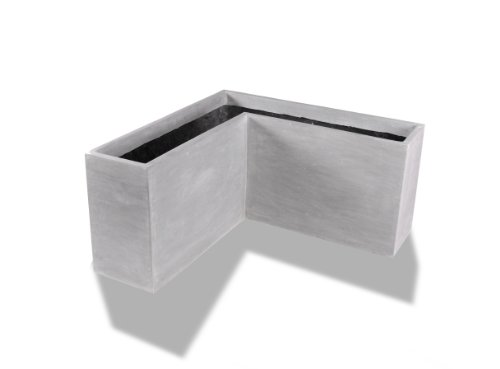 Amedeo Design 2513-95G Corner Modular Planter, 24 by 18 by 15-Inch, Lead Gray von Amedeo Design