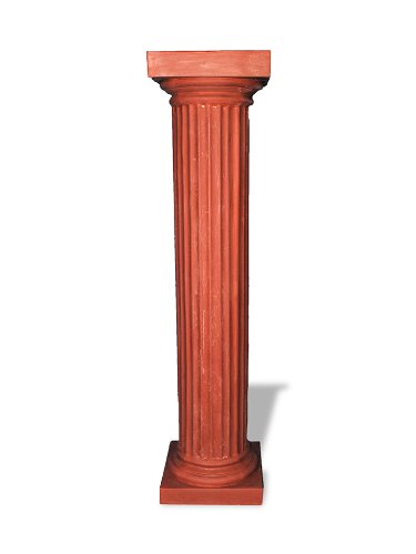 Amedeo Design ResinStone 1800-7T Doric Fluted Columns, 17 by 17 by 24-Inch, Terra Cotta von Amedeo Design