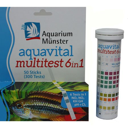 Aquarium Münster aquavital multitest 6in1, 50 Teststrips von Aquarium Münster