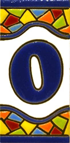 . Handgemalte Kordeltechnik fuer Schilder mit Namen Design MOSAICO MINI 7,3 cm x 3,5 cm Schilder mit Zahlen und Nummern auf vielfarbiger Keramikkachel Adressen und Wegweisern Persoenlich gestaltbarer Text BUCHSTABEN Y