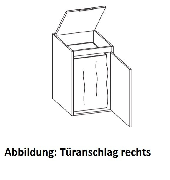 Artiqua 400 Highboard, Quarzgrau Hochglanz Select, 400-HBW-1-43-L-7162-172 400-HBW-1-43-L-7162-172 von Artiqua
