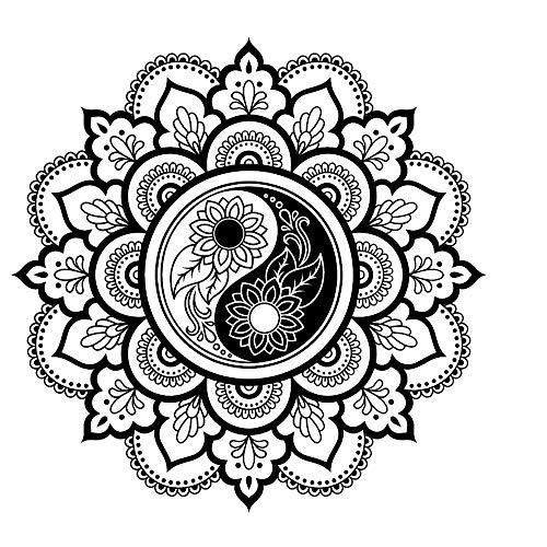 55.1 x 55.1 in 140 x 140 cm wei/ß Widerverwendbare PVC-Schablone Om Ohm Mandala wiederverwendbare Schablone A3 A4 A5 /& gr/ö/ßere Gr/ö/ßen Wanddekoration Buddhismus M8 L size