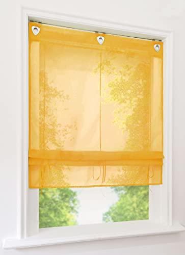 gelb transparente gardinen vorh nge und weitere. Black Bedroom Furniture Sets. Home Design Ideas