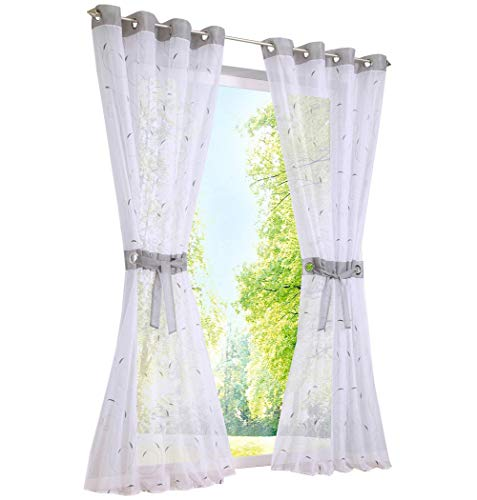 Window Treatments & Hardware Curtains, Drapes & Valances bxh 140x175cm|grün Mit Kräuselband 1er-pack Bestickt Gardine Mit Spleiss