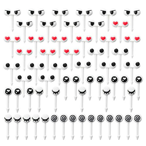 BESTonZON 10pcs Fruit Fork Creative Novelty Cute Eyes Party Supplies for Celebration Party Afternoon Tea Banquet (50pcs) von BESTonZON