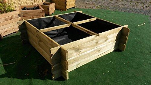Abfall & Recycling Komposte BIHL Stabiler Holzkomposter Komposter Hochbeet 170 x 120 x 52 cm Bambus-Internethandel Leipzig
