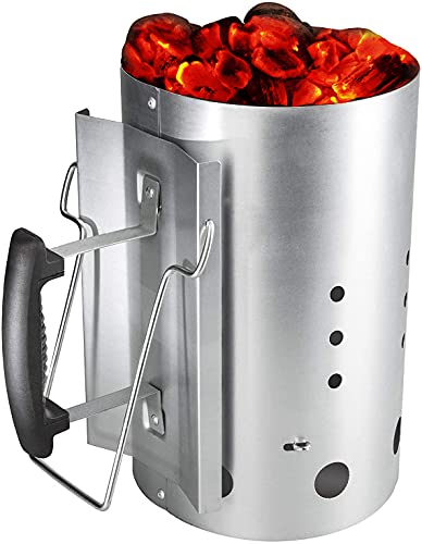 Bar.b.q.s Chimney Starter with Safety Handle Charcoal Lighter Burning Column Anzündkamin Rapidfire For Weber 7416 30cm H & 19CM DIA von Bar.B.Q.S
