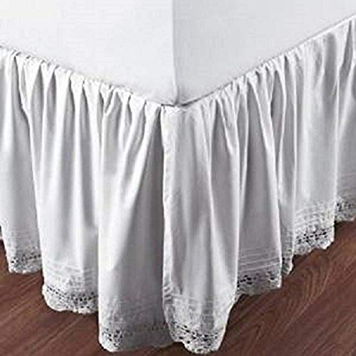 Be-You-tiful Home Bella Crochet Bed Skirt, Twin, White von Be-You-tiful Home