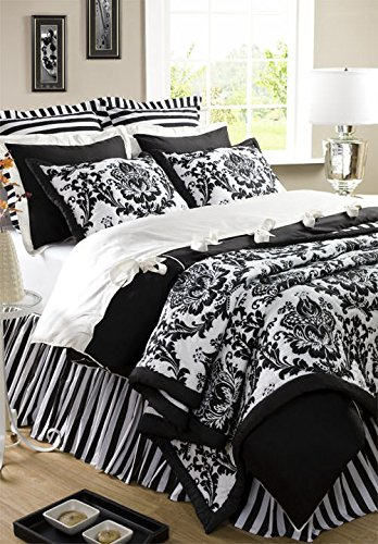 Be-You-tiful Home Damask Quilt, Twin, Black von Be-You-tiful Home