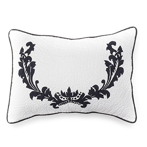 Be-You-tiful Home Damask Sham, Standard, Black von Be-You-tiful Home