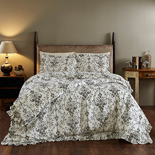 Be-you-tiful Home Rive Duvet Cover Set, King, Gray von Be-You-tiful Home