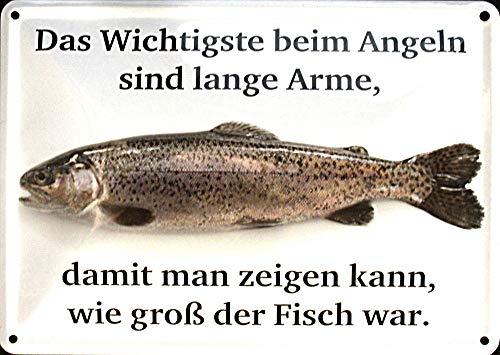 Motiv von Strasse Angeln 10x15 cm Blechkarte Blechschild PC302//201