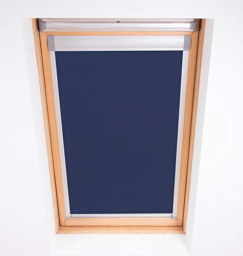 Bloc Skylight Blind 2 (55/98) für Fakro Dachfenster Blockout, Marineblau von Bloc Blinds