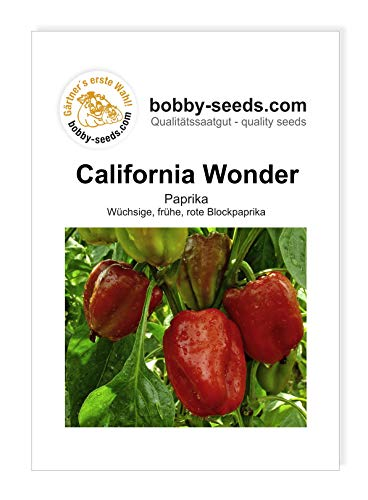 Bobby-Seeds Paprikasamen California Wonder, Portion von Bobby-Seeds Saatzucht