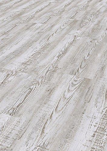 Tepcor Klick Vinylboden Premium Vinylbodenbelag mit Klicksystem Pflegeleichte und wasserfeste Vinyl Bodenbel/äge in vielen verschiedenen Farben Basalto