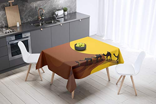 Bonamaison Kitchen Decoration, Tablecloth, 140cm x 140cm - Designed and Manufactured in Turkey von Bonamaison