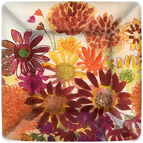Boston International 8 Count Square Paper Dessert Plates, Bunch Flowers von Boston International