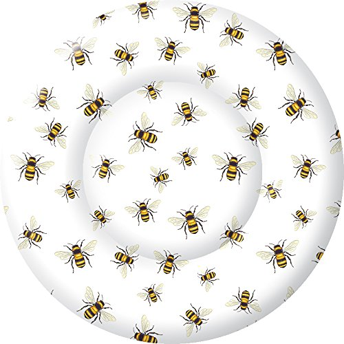 Boston International PK769890 IHR Round Dessert Paper Plates, 8-Inches, Save The BeesWhite von Boston International