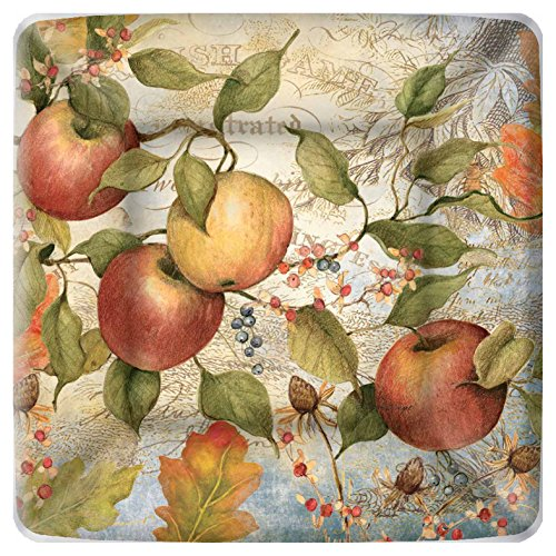 Boston International Square Paper Dessert Plates, 8-Count, 7 x 7-Inches, Apple von Boston International