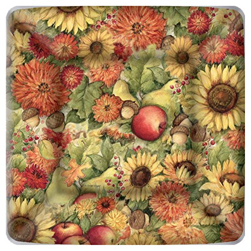 Boston International Square Paper Dessert Plates, 8-Count, 7 x 7-Inches, Flowers and Fruit von Boston International