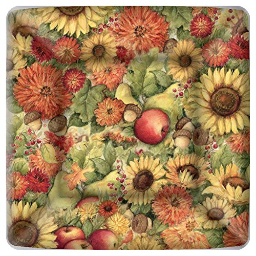Boston International Square Paper Dinner Plates, 8-Count, 10 x 10-Inches, Flowers and Fruit von Boston International