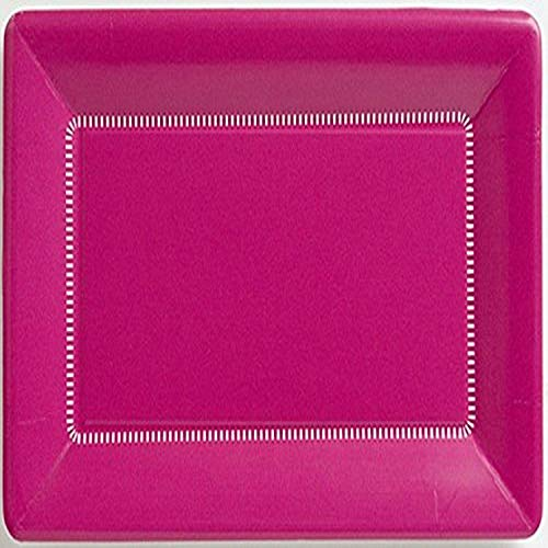"Ideal Home Range 8 Count Paper Cafe Plates, 9 x 5.5"", Zing Raspberry von Boston International"