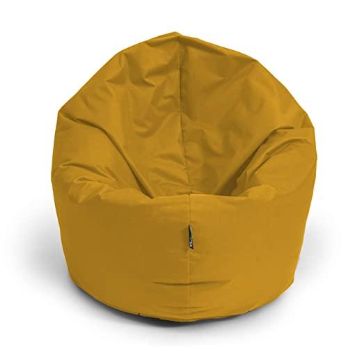 BuBiBag Sitzsack Gamer Playstation Sessel Lounge Kissen original Sitzkissen f/ür In /& Outdoor geeignet fertig bef/üllt mit EPS Styroporf/üllung in 31 Farben erh/ältlich 80cm Durchmesser,Sand