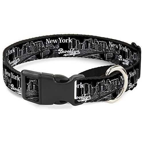 "Buckle-Down Brooklyn New York Martingale Hundehalsband, 1"" Wide - Fits 9-15"" Neck - Small, Mehrfarbig von Buckle-Down"
