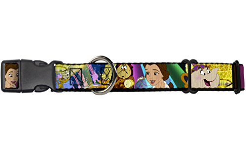 Buckle-Down Dog Collar Martingale Beauty The Beast Be Our Guest Scenes 16 to 23 Inches 1.5 Inch Wide von Buckle-Down