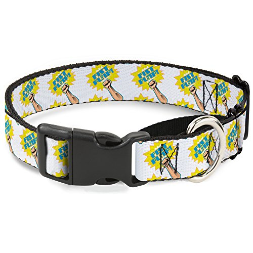 "Buckle-Down Faust-Pump-Hundehalsband, Weiß/Gelb, 1.5"" Wide - Fits 16-23"" Neck - Medium, Mehrfarbig von Buckle-Down"