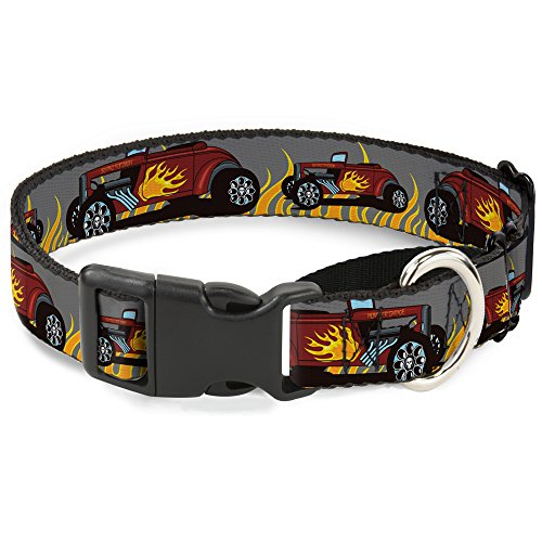 "Buckle-Down Hot Rod Hundehalsband mit Flammen Martingale, 1"" Wide - Fits 15-26"" Neck - Large, Mehrfarbig von Buckle-Down"