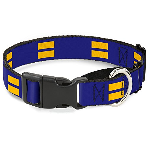 "Buckle-Down Hundehalsband, Martingale, Blau/Gelb, 1"" Wide - Fits 11-17"" Neck - Medium, Mehrfarbig von Buckle-Down"
