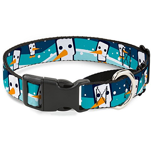 "Buckle-Down Hundehalsband, Pinguine, Martingal, Marineblau, 1.5"" Wide - Fits 18-32"" Neck - Large, Mehrfarbig von Buckle-Down"