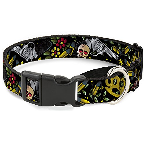 "Buckle-Down Hundehalsband Born to Raise Hell Close Up Black Martingale, 1.5"" Wide - Fits 18-32"" Neck - Large, Mehrfarbig von Buckle-Down"