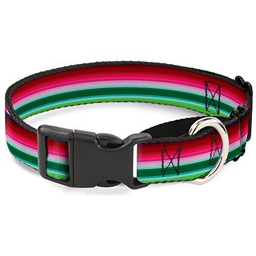 "Buckle-Down Zarape1 Hundehalsband, horizontal, Rot/Weiß/Grün, 1"" Wide - Fits 9-15"" Neck - Small, Mehrfarbig von Buckle-Down"