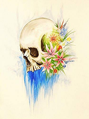 Buyartforless Skull Candy 24x18 GICLEE 12 Color Art Print Poster by Ed Capeau Made IN The USA von Buyartforless